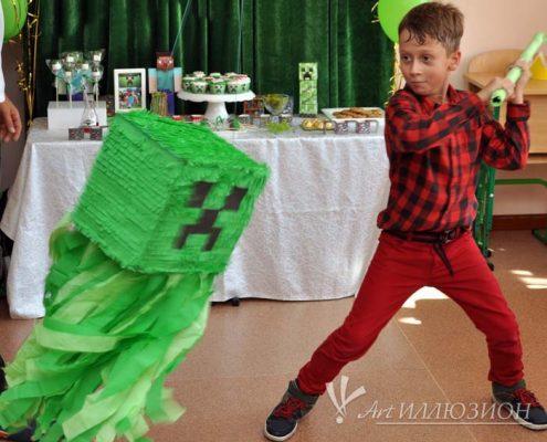 Детский День Рождения в стиле Minecraft