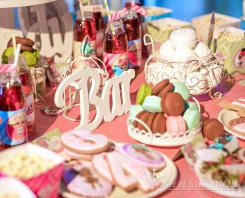 Кенди бар и торт на заказ на День рождения ребенка Киев в стиле LOL