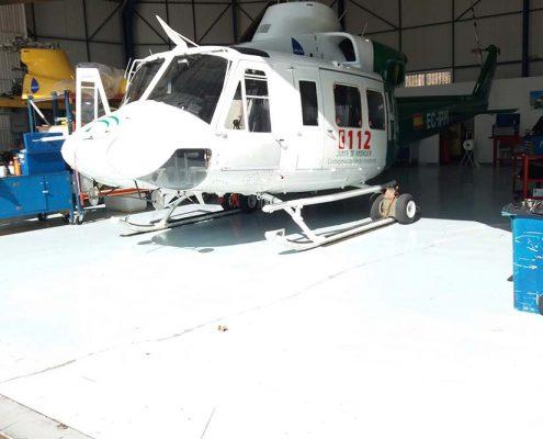 desratización en helipuerto del 061 de Sevilla