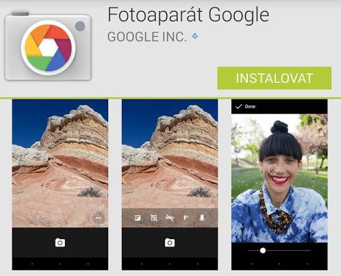 App Fotoaparat Google