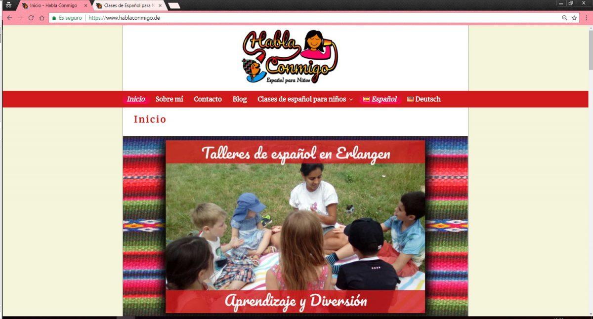 Página web para clases de español en Alemania