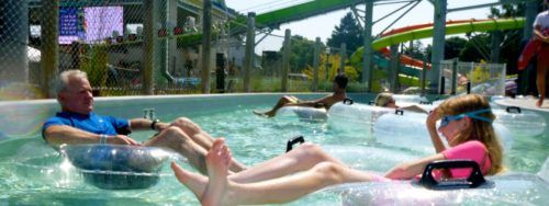 The lazy river at Hershey's boardwalk