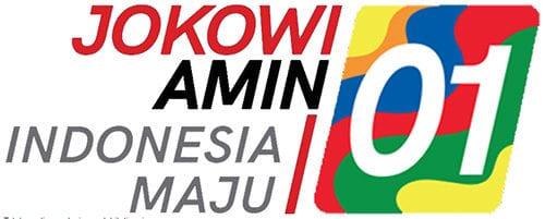 Logo dan slogan pasangan capres 01