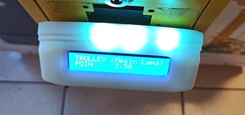 gesekan trolley