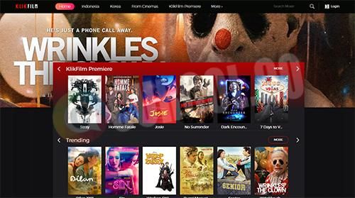 tampilan klikfilm di desktop