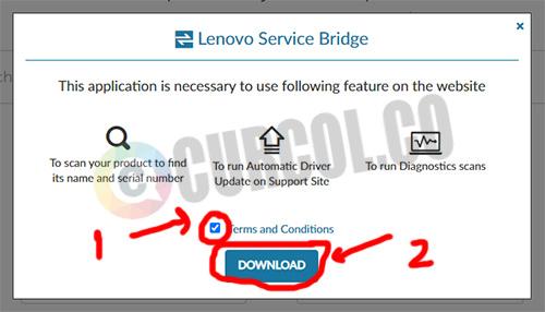 form download Lenovo Service Bridge