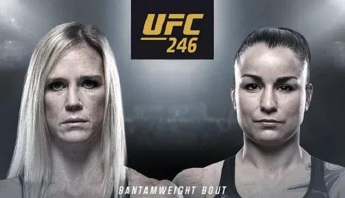 Видео боя Холли Холм - Ракэль Пеннингтон / UFC 246