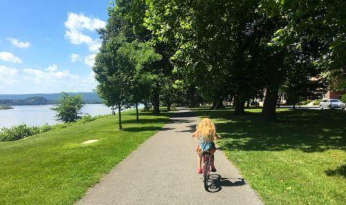 biking along the Susquehanna in Harrisburg