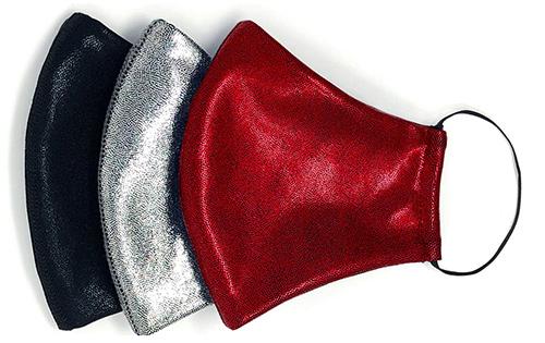 Heroine Sport Assorted 3-Pack Adult Metallic Face Masks | 40plusstyle.com