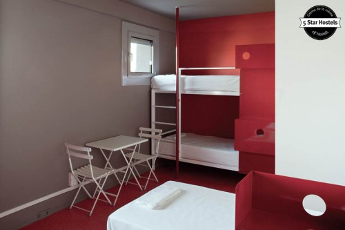 The red dorm at WE_Bologna has only 4 beds.