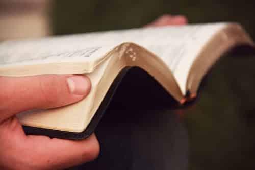 A peron reading the Bible