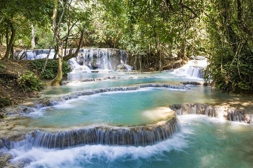 Kuang Si Waterfall near Luang Prabang in Laos