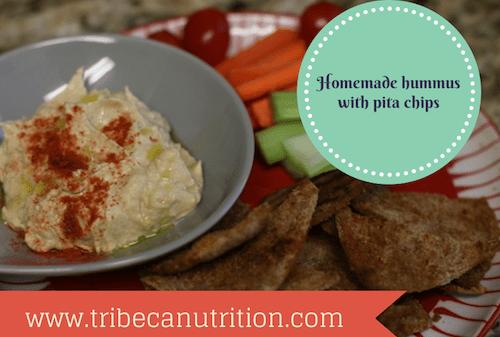 Hummus and pita chips annotated 500