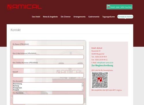 QR Code auf der Webseite für die Anfahrt