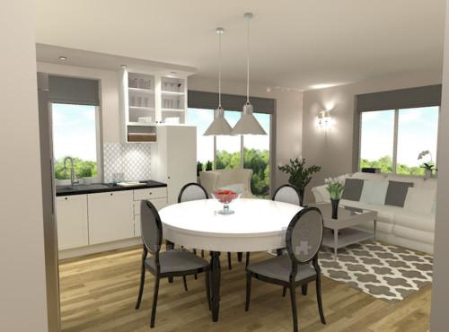 projekt-kuchni-salonu-projektowanie-wnętrz-lublin-perspektywa-studio-kuchnia-klasyczna-angielska-lodówka-side-by-side-salon-meblościanka-jadalnia-Sielsko-angielsko-5