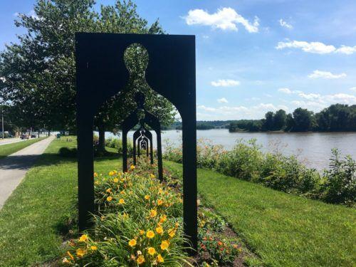 stopping for art on the Harrisburg Greenbelt