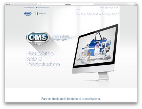 costruzione siti web brescia - sito web oms presse