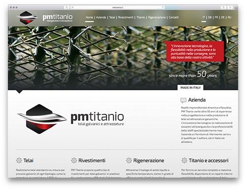Realizzazione Siti Internet Brescia - Sito Web PM Titanio