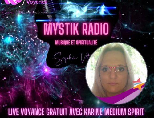 Voyance gratuite avec Karine médium spirit en direct sur Mystik Radio 16.03.2021