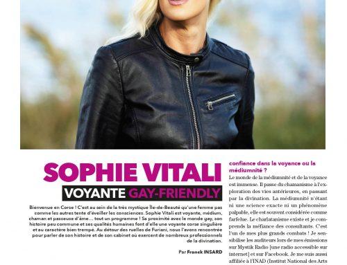 Sophie Vitali médium en interview pour Garçon Magazine Mars 2021