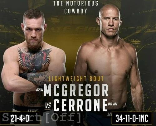 Видео боя Конор Макгрегор - Дональд Серроне / UFC 246