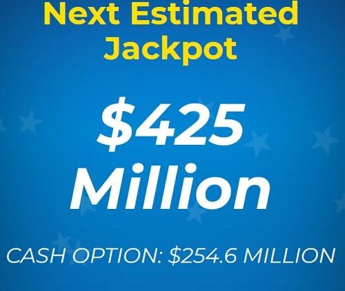 jackpot estimé par annuité ou en cash option à Mega Millions