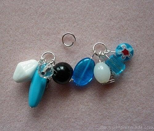 Make a clustered necklace Step 10