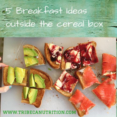 5 Breakfast Ideas outside cereal box