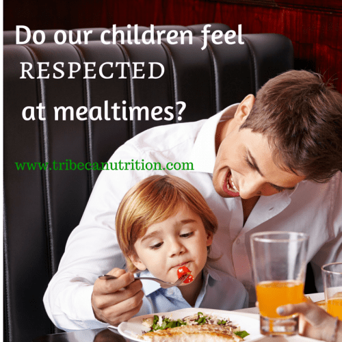Do children feel respected at mealtimes?