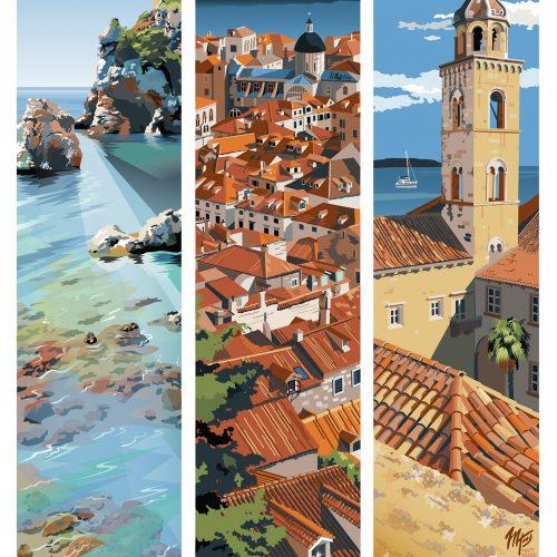 Dubrovnik Travel Poster by Matt Hood
