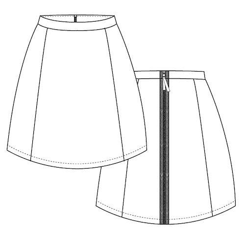 Croquis jupe Scarlett - Modèle débutant