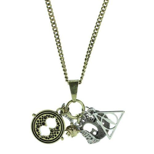 Collana con ciondoli giratempo platform 934 boccino d'oro doni della morte Harry Potter