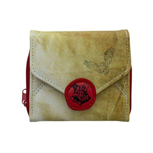 Portafoglio lettera hogwarts con cerniera e clip harry potter