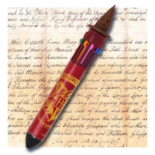 penna multicolore hogwarts harry potter