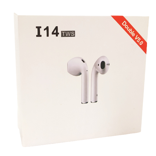 Image shows the outer box, there's an image of the earbuds on the front.