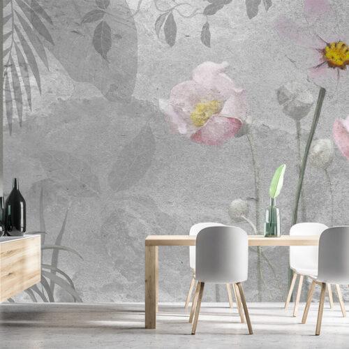 Fototapey Liście - Kwiaty