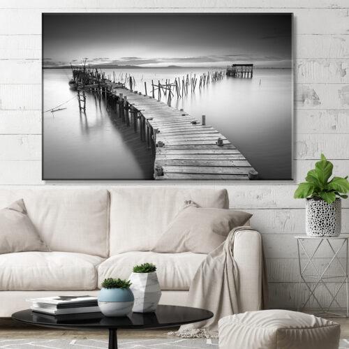 Obraz na płótnie Drewniany Pomost Ocean