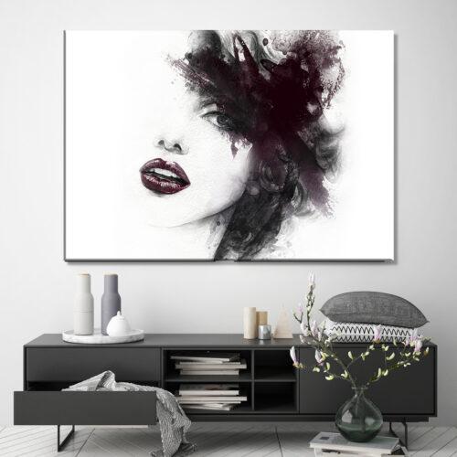 Obraz na płótnie Kobieta Abstrakcja Mademoiselle