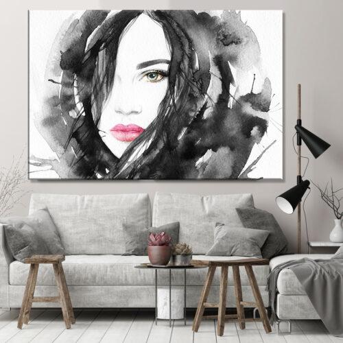 Obraz na płótnie Kobieta Abstrakcja Zoe