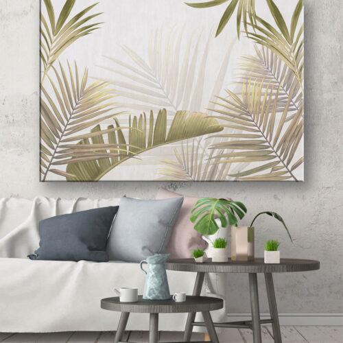 stylowe wnętrze w stylu skandynawskim obraz na ścianę z palmami