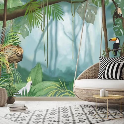 fototapeta do salonu na wymiar Dżungla