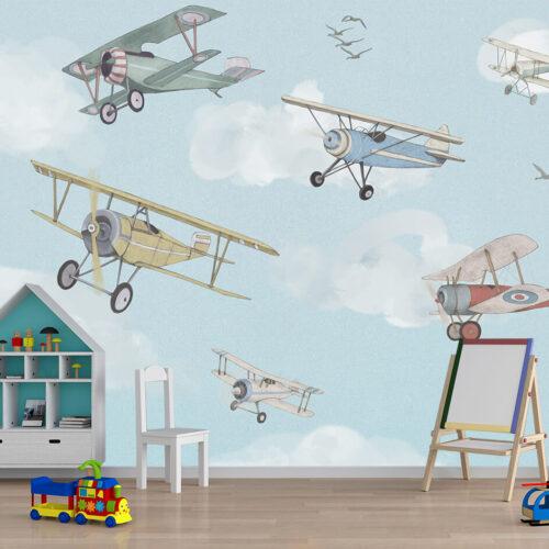 fototapety do pokoju chłopca - Samoloty