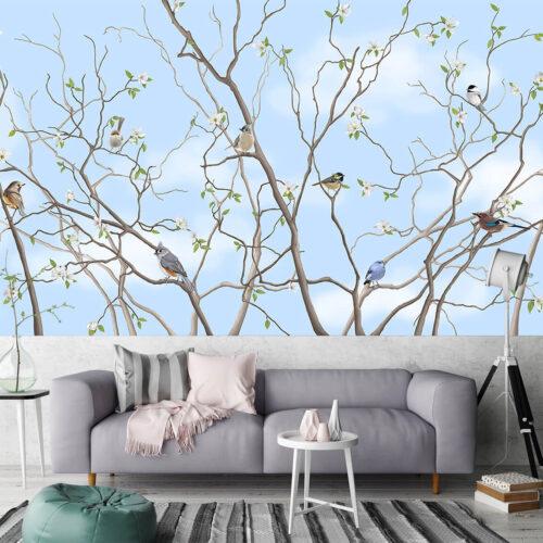Aranżacja salonu - Fototapety na wymiar Drzewo