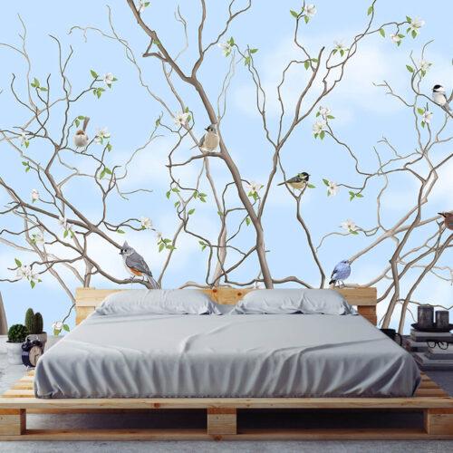 Pomysły na urządzenie sypialni - Fototapeta Drzewo