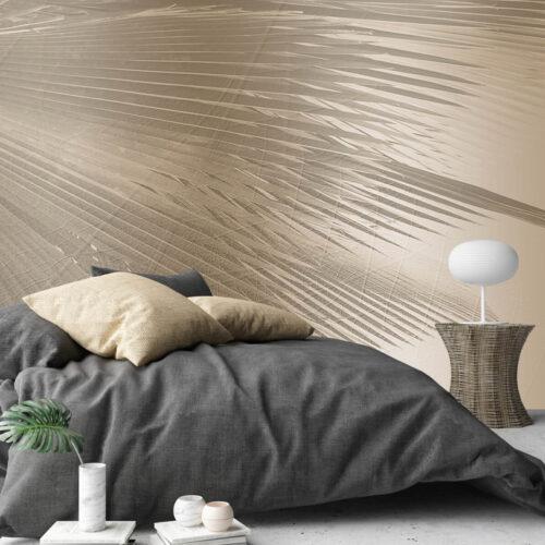 Piękna fototapeta do sypialni Palmy