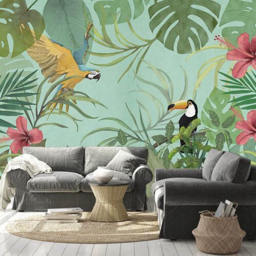 fototapety w egzotyczne rośliny - Dżungla