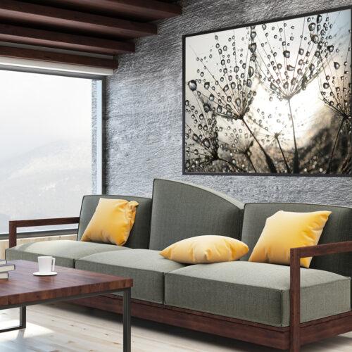 obraz na płótnie dmuchawce kwiaty