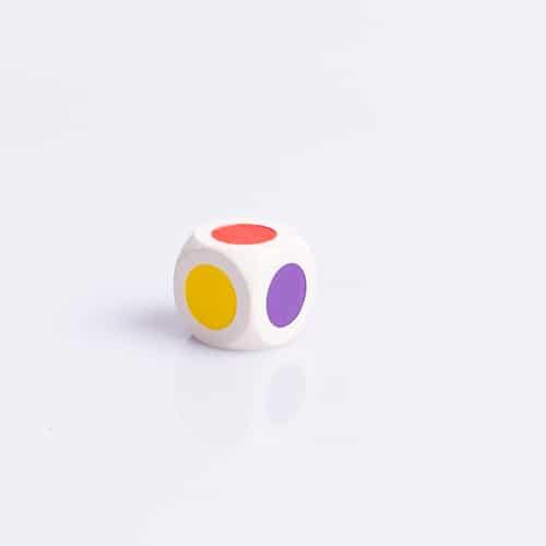 6 Vlakkendobbelsteen Kleurendobbelsteen 16mm waar te koop