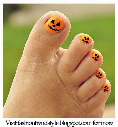 decoracion-de-unas-de-los-pies-halloween-calabaza