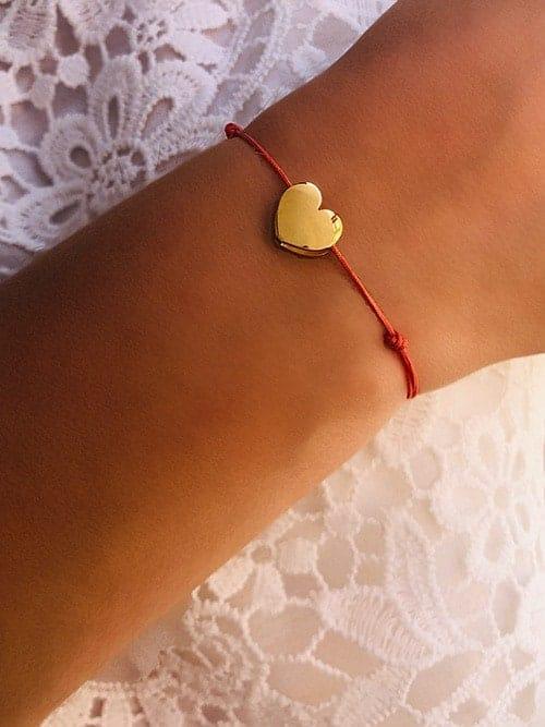 Bracelet cordon Coeur 925grammes.com